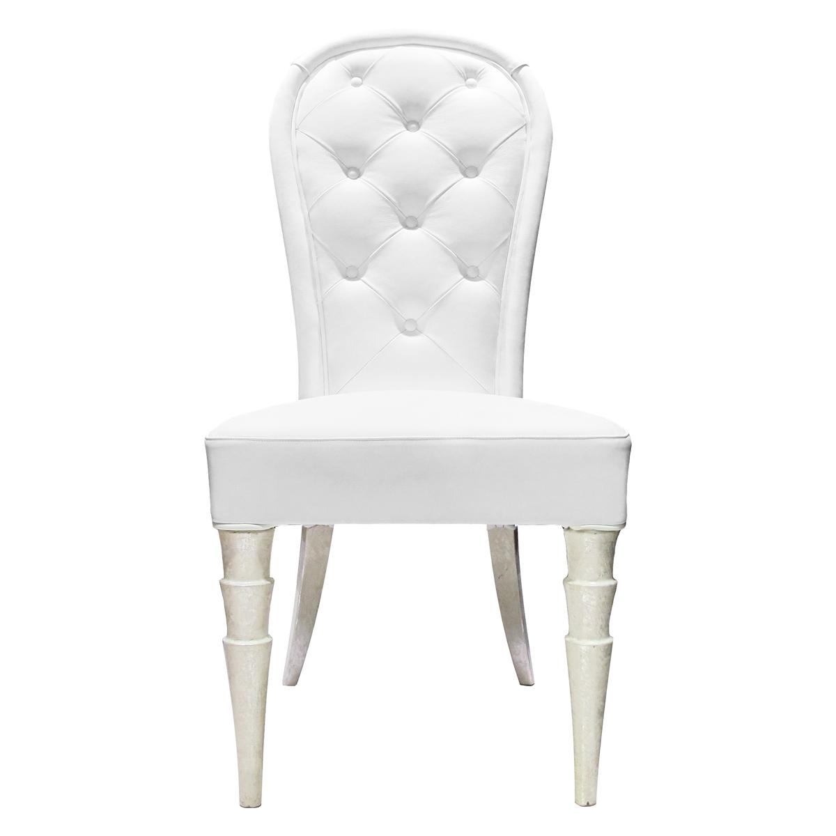 Sedia in pelle bianca Arkeos – Rossi Home & Design