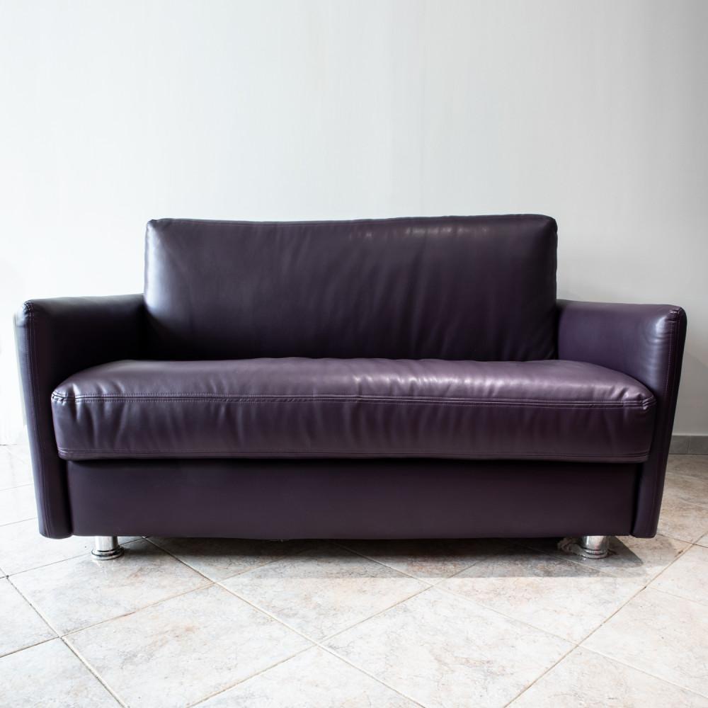 divano-letto-pelle-viola